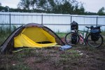 Roadside campsite.